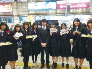金山駅催事店舗にて愛知商業高校の生徒が販売体験しました!